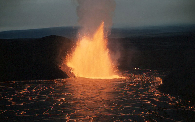 Kilauea Iki lava fountain