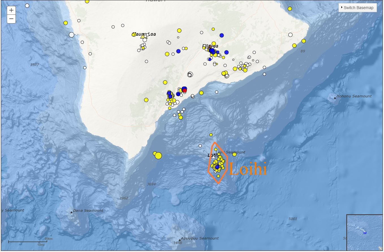 The Bug Island Hawaii Map Of   Earthquake