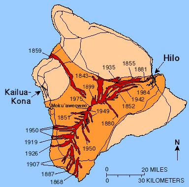 Mauna Loa Map Hawaii Center for Volcanology | Mauna Loa Eruptions
