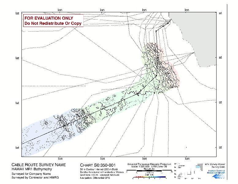 Cable Route Survey : Bathymetry Imagery