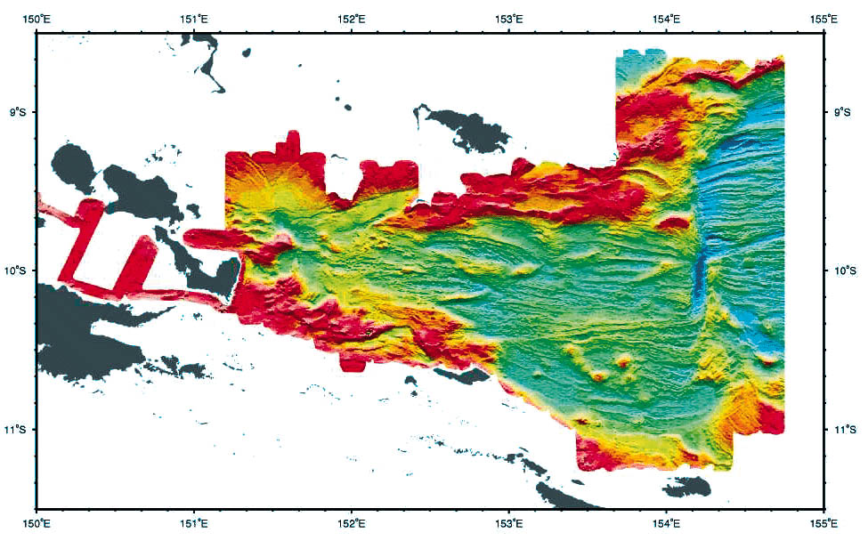 Woodlark Basin: Regional Bathymetry Imagery