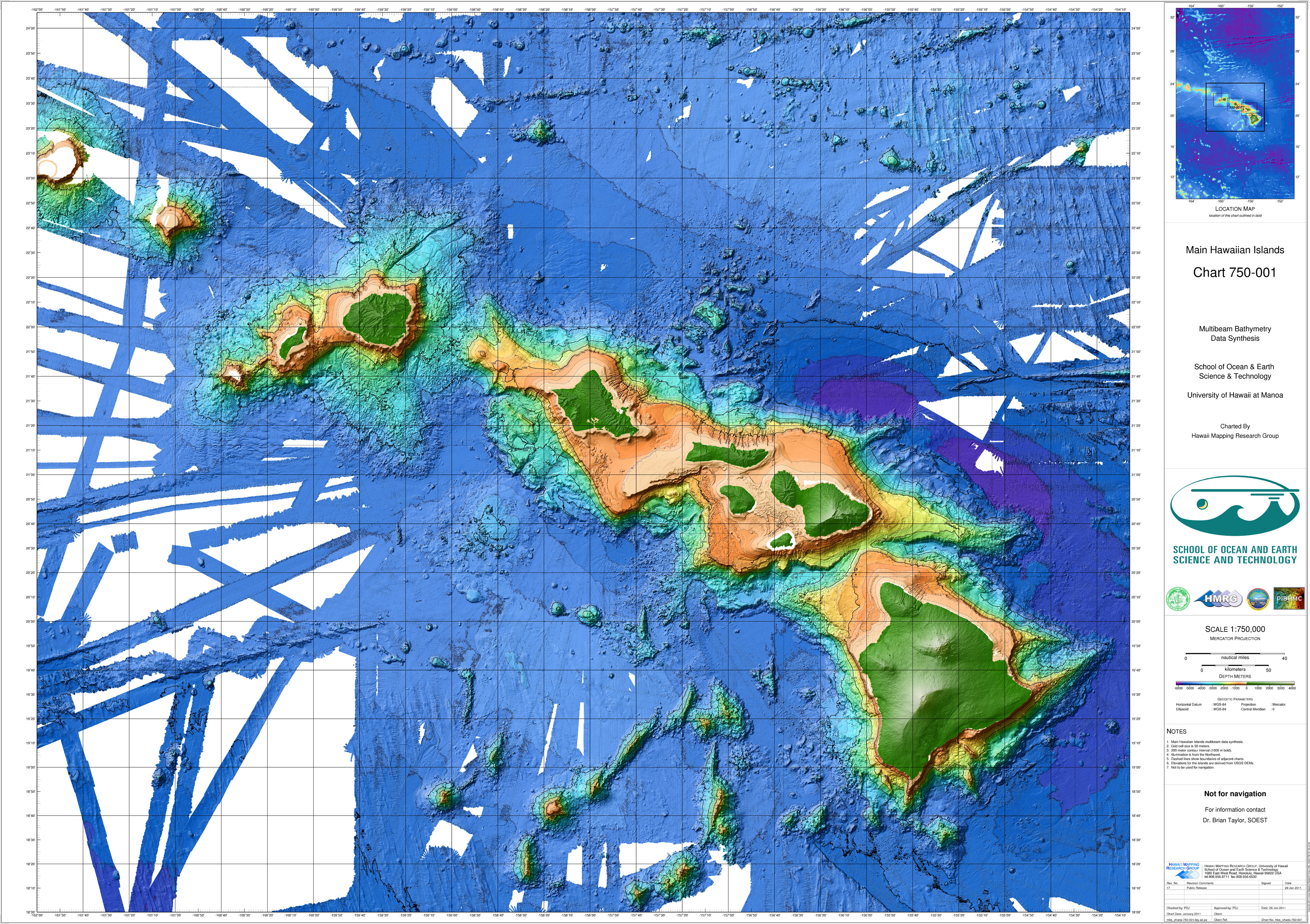 Main Hawaiian Islands Multibeam Synthesis