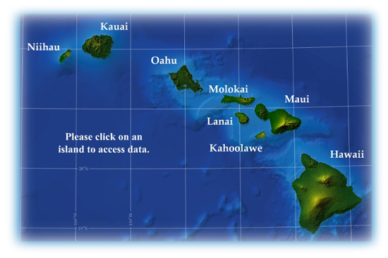 Hawaiian Islands Image - Links to Data Depot