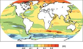 Figure 4 A Map Of Regional Sea Level Change Due To Ocean Density And
