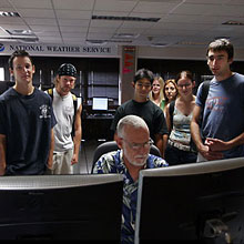 Photo of undergrads at NWS office.