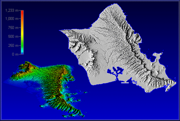 Topographic Map Oahu.Untitled Document