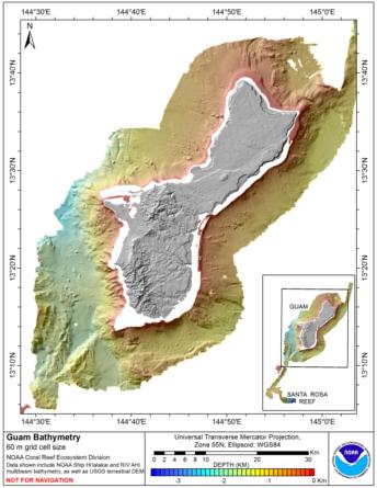 Guam 60 m grid image.