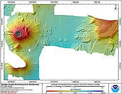 Image of Sarigan Bathmetry data.