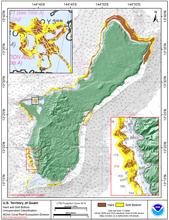 Small Guam 60 meter grid image.