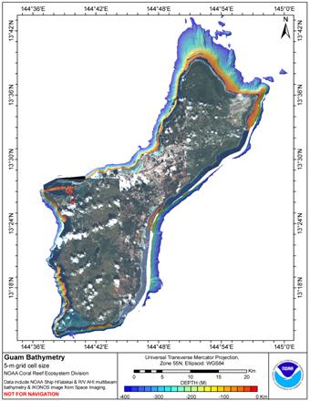 Guam 5 meter grid image.