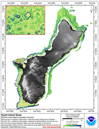 Image map of Guam slope.