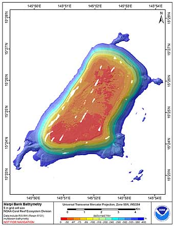 Marpi Bank 5m grid image.