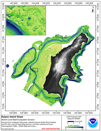 Image map of Saipan slope.