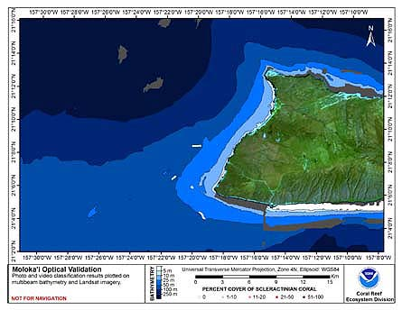 TOAD map for Moloka'i.
