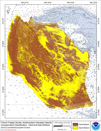 Image map of French Frigate Shoals slope.