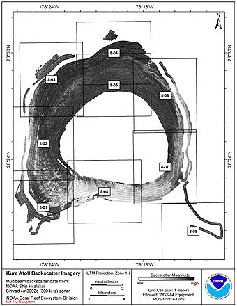 Kure Hiialakai Simrad EM3002d 300 kHz Backscatter Imagery.
