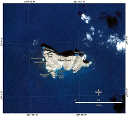 IKONOS satellite image of Photo of Nihoa Island.
