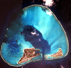 IKONOS satellite image of Photo of Midway Atoll.