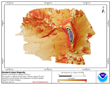 Image map of Howland rugosity.