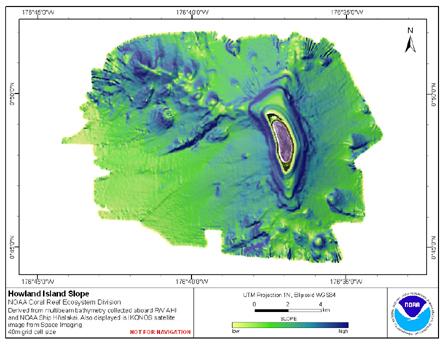 Image map of Howland slope.