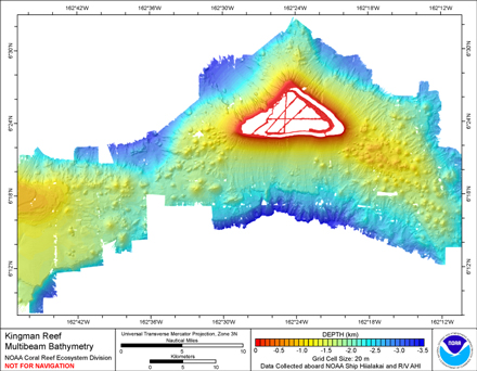 Image of Kingman Reef bathymetry.