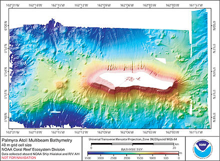 Image of Palmyra Atoll bathymetry.
