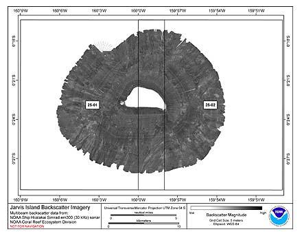 Jarvis Hiialakai Simrad EM300 30 kHz Backscatter Imagery.
