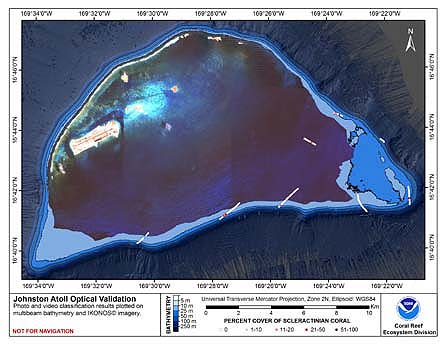 TOAD map for Johnston Atoll.