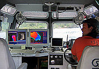 Image inside cabin of R/V AHI.