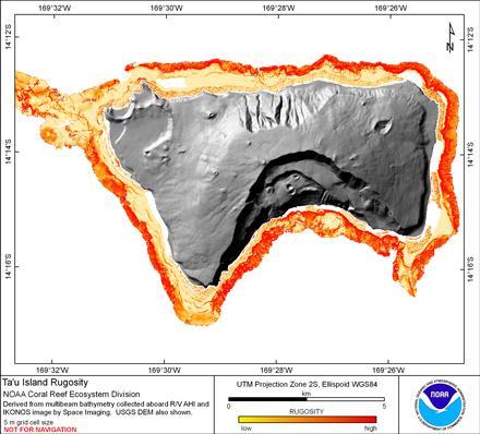 Image map of Tau rugosity.