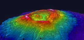 Multibeam bathymetry of Vaiulu'u Seamount.