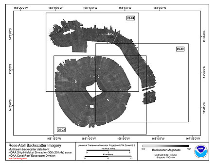 Rose Hiialakai Simrad EM300 30 kHz Backscatter Imagery.
