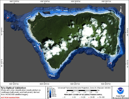 TOAD map for Ta'u.