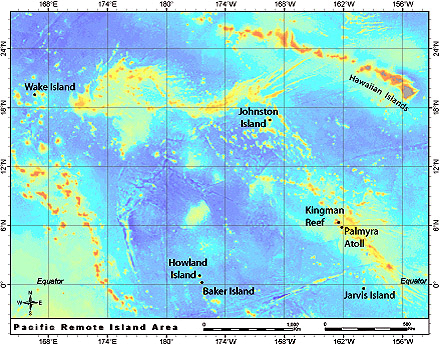 Howland Island On World Map.Pacific Remote Island Area Pacific Islands Benthic Habitat Mapping