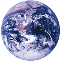 Image of Earth taken by Apollo astronauts.