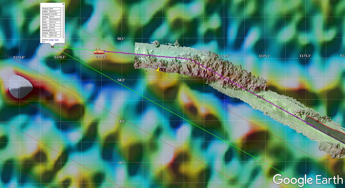 SURVEY - Tools for At-Sea Data Processing and Display via Google Earth