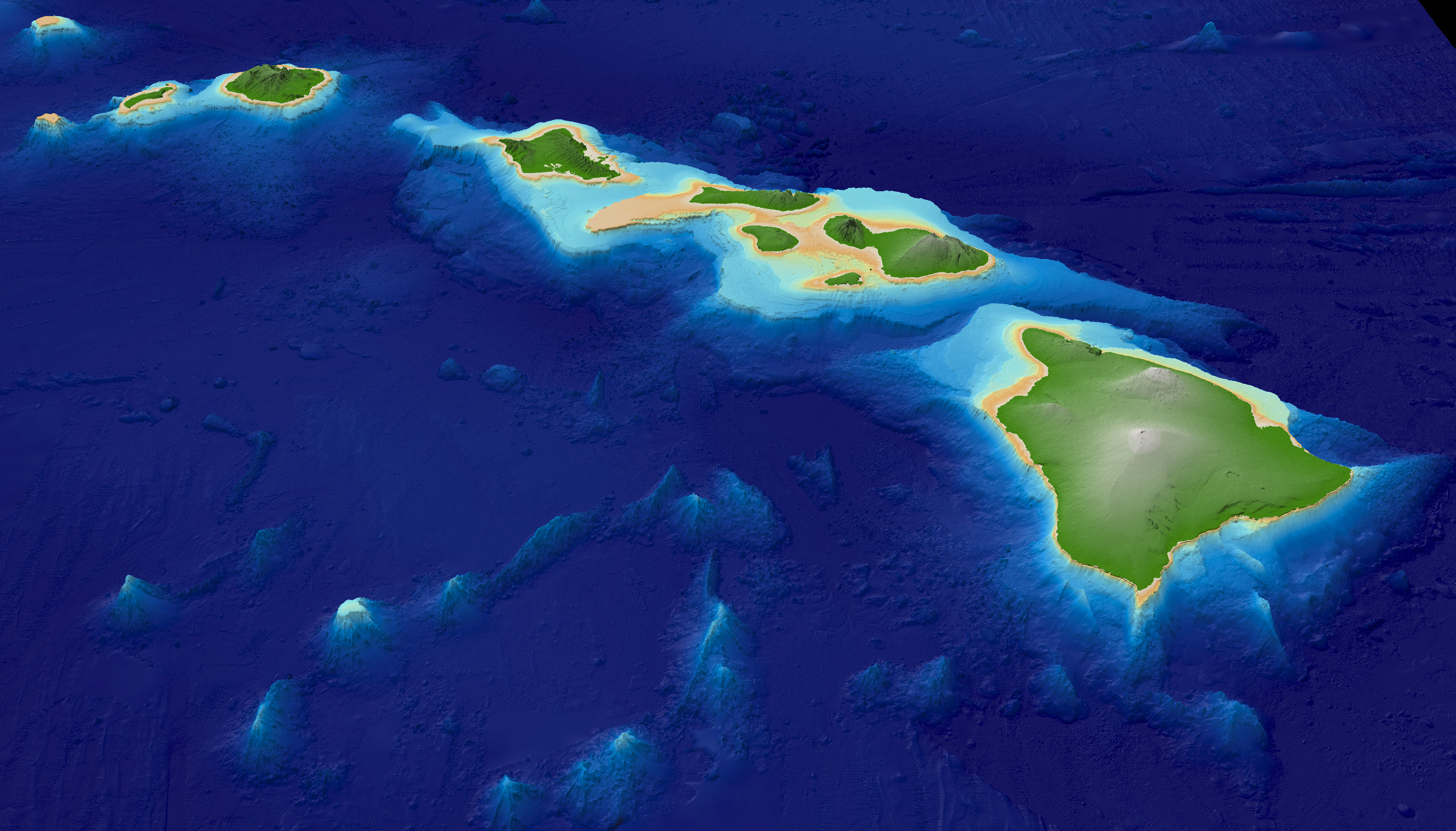 what type of volcanism formed the hawaiian islands