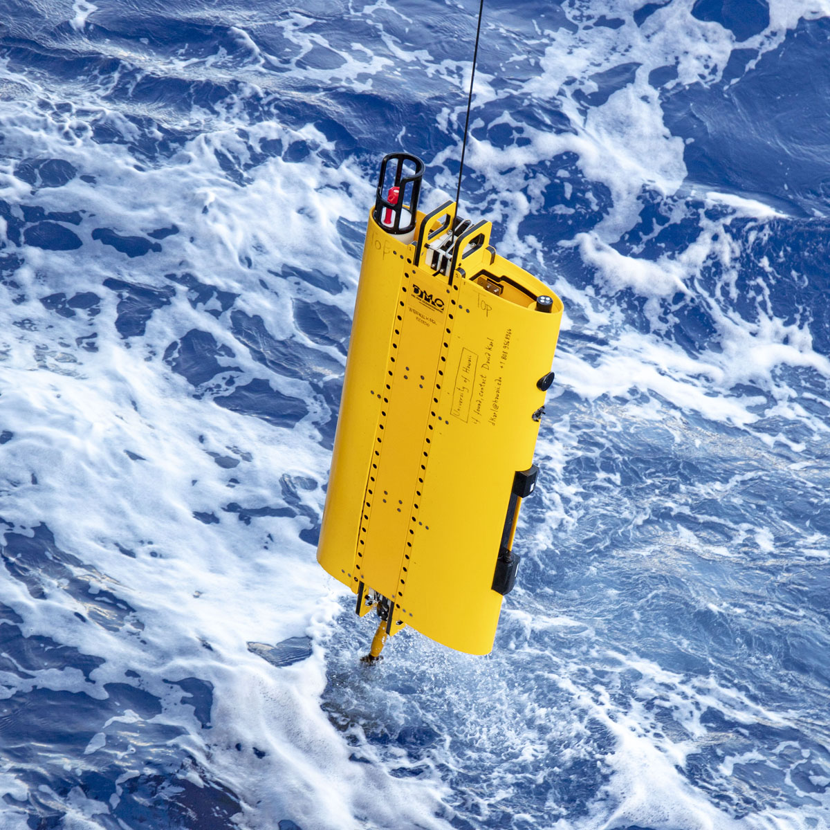 Oceanography instrument deployed as part of the HOTS/SCOPE project. Photo by K. Maloney