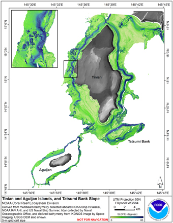 Image map of Tinian slope.