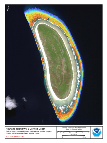 Howland Island: Bathymetry   Pacific Islands Benthic ...