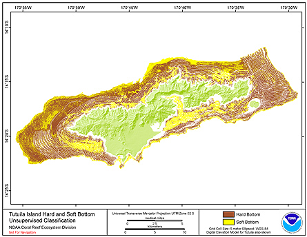 Hard and Soft Substrate map of Tutuila