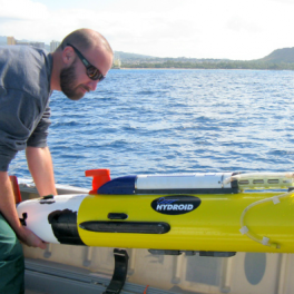 Image of Remus AUV deployment