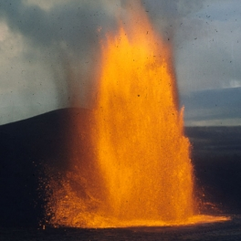 Photo of fountaining lava.