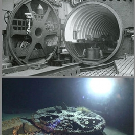 Image of sunken Imperial Japanese sub door.