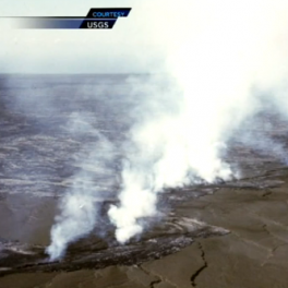 USGS photo of chain of volcanic vents