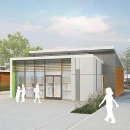 Rendering of net zero energy classroom