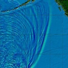 Tsunami model image.