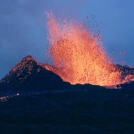 Image of fountaining lava