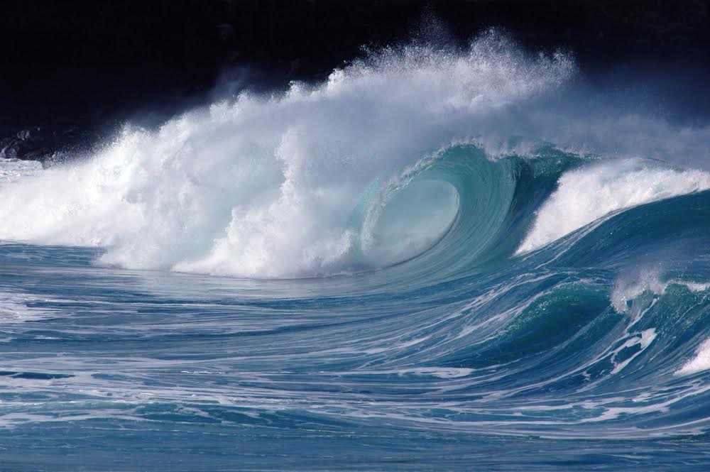 'Wave at Waimea' (island of O'ahu); photo by Dr Steven Businger, Dept of Meteorology