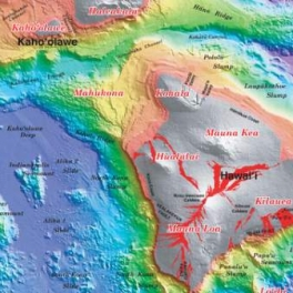 map showing location of Mahukona volcano